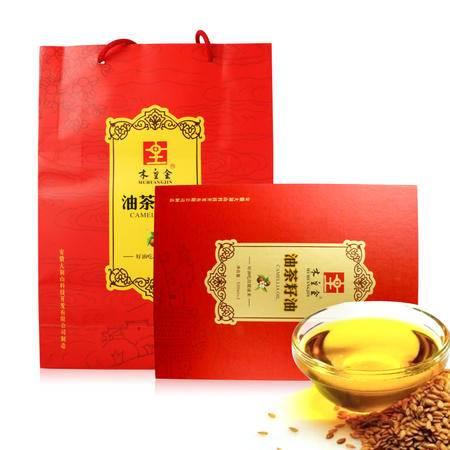 金寨有机野生农家冷榨山茶油茶籽油压榨一级茶籽油 500ml*2礼盒装