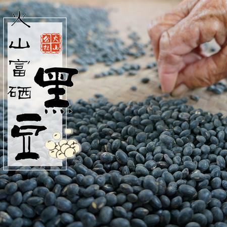 火山公社 海南火山农家自产富硒黑豆 杂粮粗粮 乌发补肾 500g 包邮