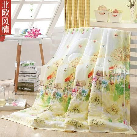 采馨家纺 床品天丝夏被夏凉被芯夏天空调被单双人被子 青花瓷韵