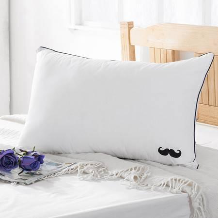 采馨家纺 床上用品枕头枕芯红唇小胡子情侣枕一对价48*74情侣枕芯