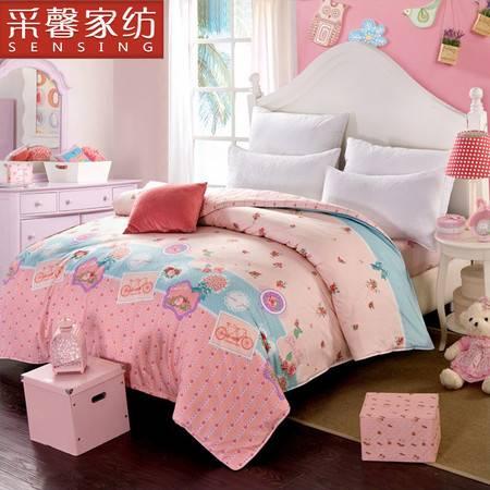 家纺 床上用品学生纯棉被套单件1.5米双人全棉被罩 陌上花开