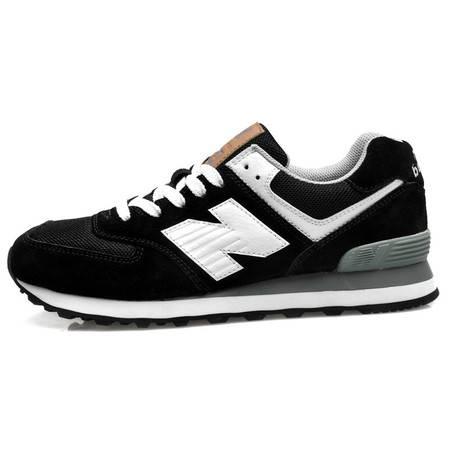 纽巴伦反绒皮运动鞋男女款时尚复古跑鞋黑色