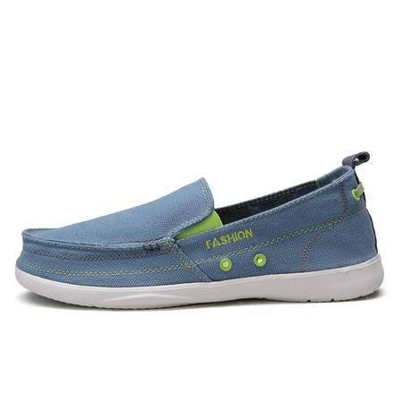 夏季新款休闲鞋男鞋子豆豆鞋一脚套懒人鞋
