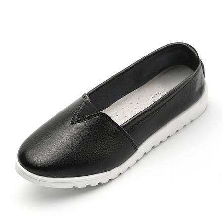 夏季新品单鞋女平跟休闲妈妈鞋