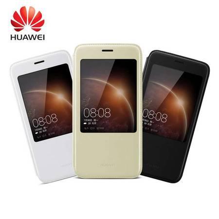华为(HUAWEI)麦芒4皮套 原装G7plus手机保护套麦芒4原装智能开窗休眠皮套 手机壳D199