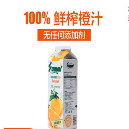森美NFC橙汁鲜榨果汁饮料 无添加果蔬汁健康体验畅饮装 1Lx12瓶装