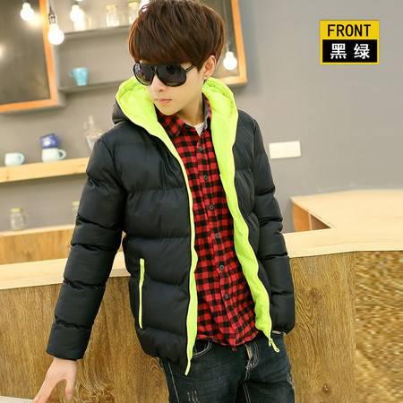 韩版潮流   男冬装  时尚休闲连帽棉衣 青少年修身 男士短款棉服 外套