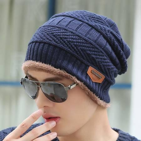 男士套头帽 毛线帽 针织帽 包头帽 男士帽子 韩国男帽 韩版潮 加厚加绒