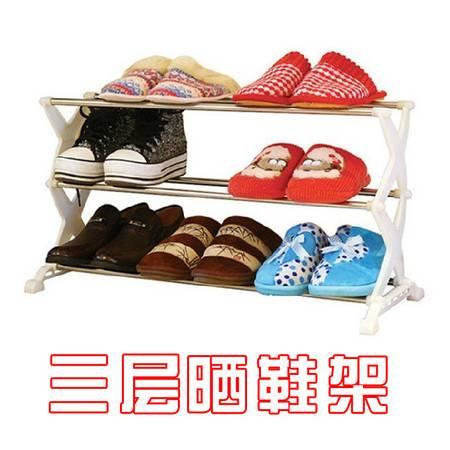 不锈钢置物架 塑料家居8501鞋架 收纳架 简易鞋架