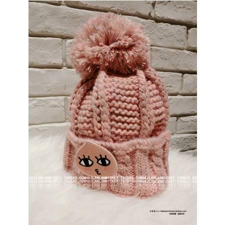 保暖加厚可爱甜美韩版冰淇淋毛线帽尖顶帽 秋冬