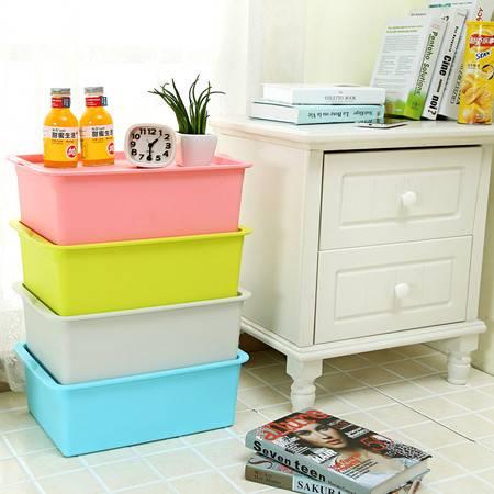 加厚塑料整理箱玩具杂物物品整理收纳箱桌面储物箱 41*27.5*14cm【多省包邮】【一个】