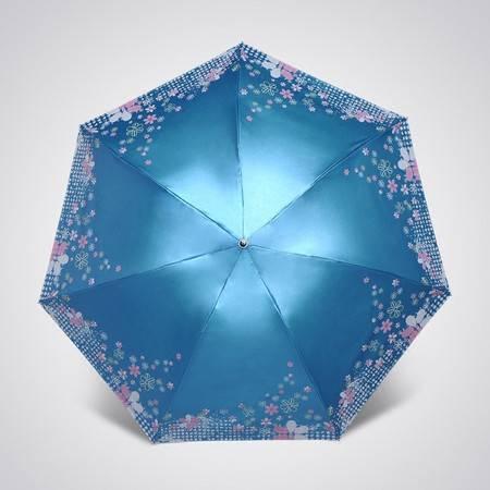 超细晴雨伞遮阳防紫外线三折黑胶超轻太阳伞防晒铅笔伞【全国包邮】