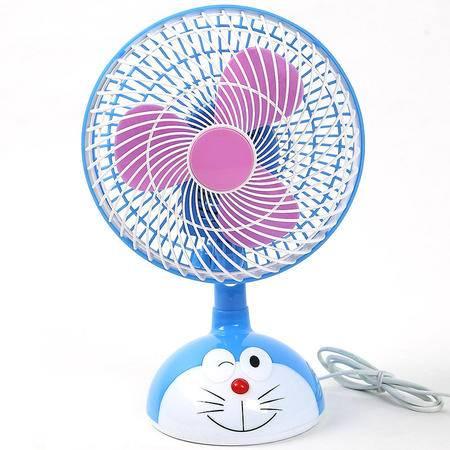 小型电风扇迷你可爱卡通电风扇可摇头甲壳虫机器猫微型电风扇【全国包邮】