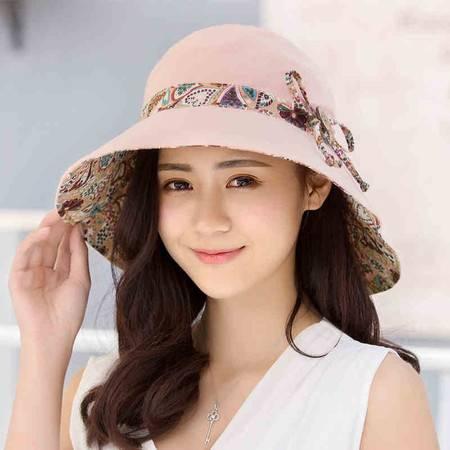 女士太阳帽防晒帽沙滩帽大延边折叠遮阳帽防紫外线防晒海边帽【全国包邮】