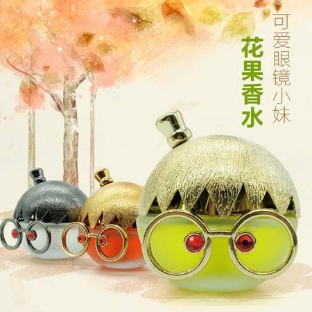 海韵生 塑料大眼镜妹香水瓶送防滑垫 室内车载摆件装饰三色可选