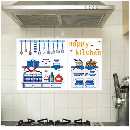 海韵生 PVC可移除环保墙贴厨房贴纸 瓷砖贴防油贴