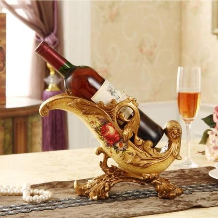 海韵生 摆件葡萄酒架家居饰品装饰品红酒架创意时尚工艺品