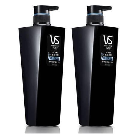 VS沙宣男士洗发水露乳700mlx2 水润平衡洗头膏套装 正品多省包邮