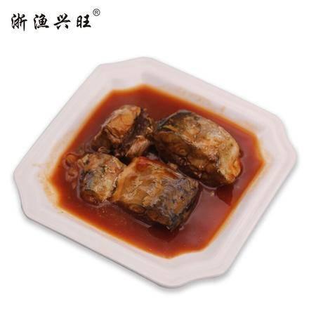浙渔兴旺马鲛鱼罐头185g茄汁