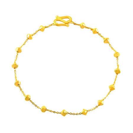 中国黄金 足金手链 新款串珠黄金手链 SLL40001G