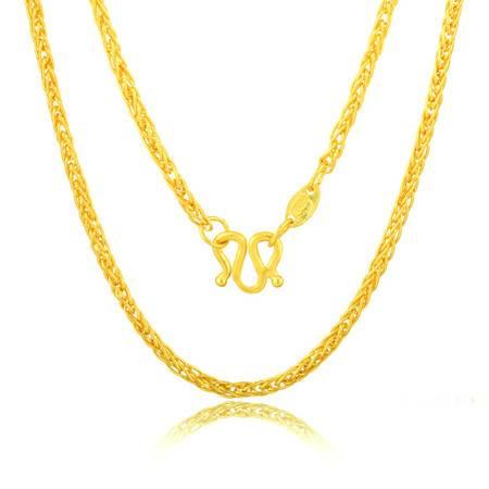 中国黄金 足金项链 经典肖邦黄金锁骨链 XL0430004