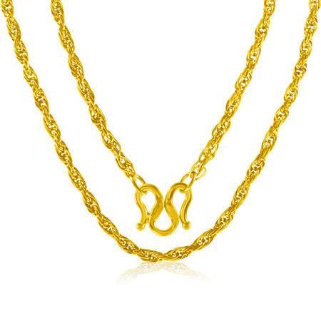 中国黄金 足金项链 简约时尚仿绳黄金项链 XLL14001G