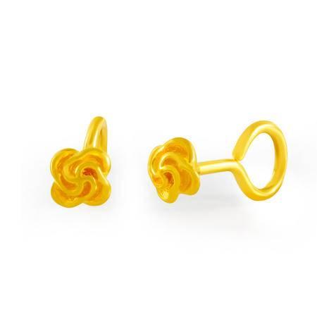 中国黄金 足金耳钉 精致小花朵黄金耳钉 ESB03002G