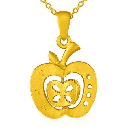 中国黄金 足金吊坠 爱心苹果黄金吊坠项坠 DZ1225011