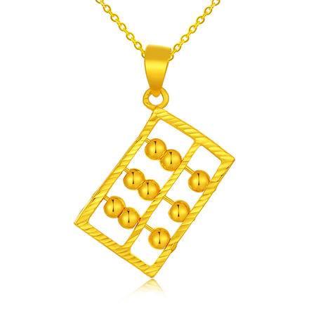 中国黄金 足金吊坠 招财进宝算盘黄金吊坠项坠 DZ0625029