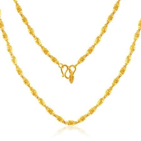 中国黄金 足金项链 橄榄珠黄金项链 XLD10046G