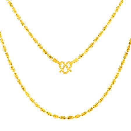 中国黄金 足金项链 转运小圆筒锁骨链黄金项链 TLL24016G