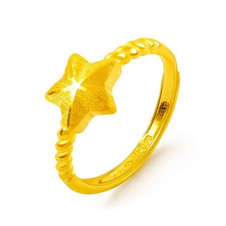 中国黄金 足金戒指 星星活口黄金戒指 JZL07006G