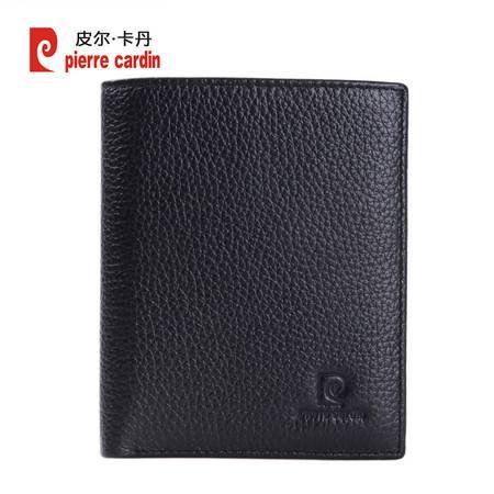 皮尔卡丹Pierre cardin钱包 男尊贵优雅牛皮钱夹竖款PCC515112A黑色