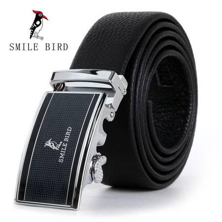 喜来鸟SmileBird男士整皮折叠自动扣皮带052