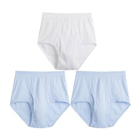 三枪 男士内裤 纯棉内裤三角裤弹力高腰宽松全棉短裤[3条装]包邮