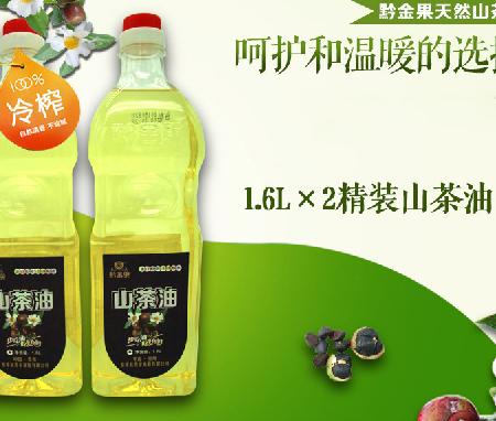 贵州黔东南黎平县黔金果山茶油1.6L*2