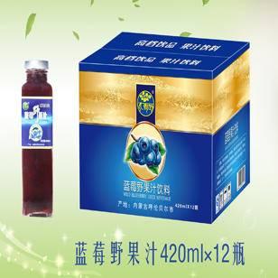 大源野蓝莓汁饮料420ml