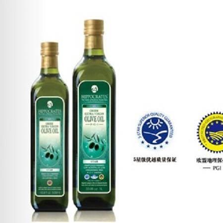 希腊原装进口希波克特级初榨橄榄油星果1000ml