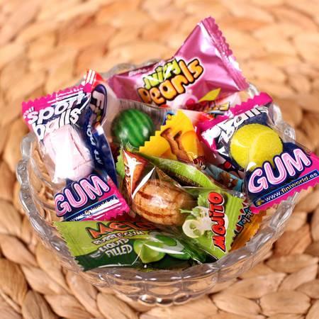 Fini/菲尼全家福泡泡糖8g×10粒多口味(随机) 西瓜口香糖果零食