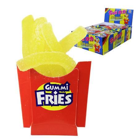 口力Trolli牌薯条橡皮糖整盒24小件 QQ糖果汁软糖办公室零食