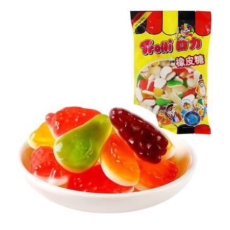 包邮口力Trolli牌双层什果橡皮糖袋装500g/袋 QQ糖果汁软糖 喜糖休闲零食品