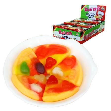 口力Trolli牌批萨橡皮糖整盒24小件 果汁软糖QQ糖喜糖休闲零食品