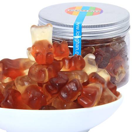 ecoro怡可诺橡皮糖可乐熊QQ糖果汁软糖喜糖零食品150g*3罐
