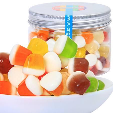 ecoro怡可诺橡皮糖上油小不点QQ糖果汁软糖办公室休闲零食品150g*3罐