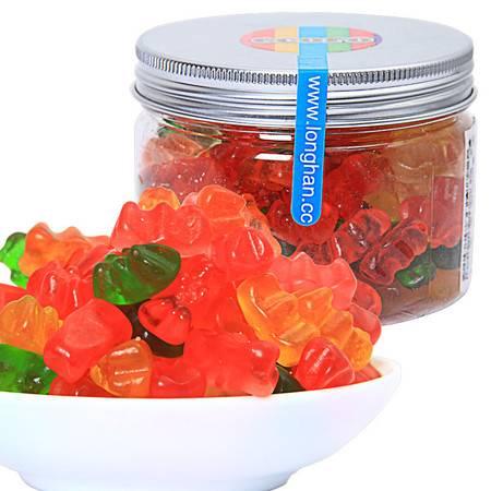 ecoro怡可诺橡皮糖迷你熊仔 QQ糖果汁软糖怀旧休闲零食品150g*3罐