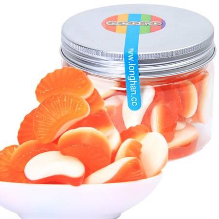 ecoro怡可诺橡皮糖橘子片150g  QQ糖果汁软糖怀旧休闲零食