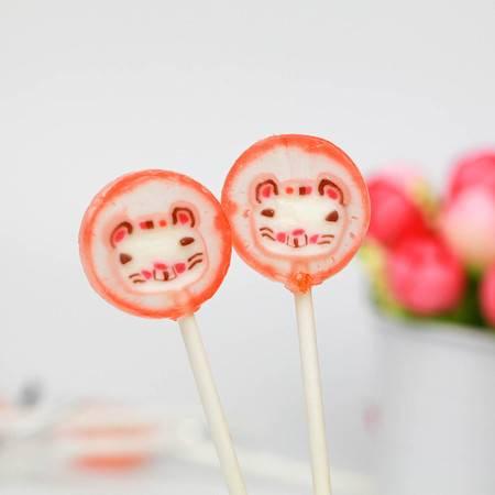棒棒堂 橘黄色猫咪 1公斤(整包)星空棒棒糖 手工水果糖果 结婚喜糖零食品