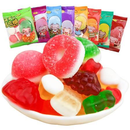 怡可诺混装口味橡皮糖独立小包装零食软糖糖果500g-Q子系列