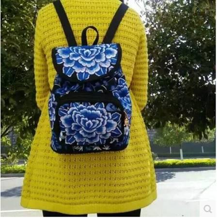 民族风绣花包包刺绣帆布休闲简约学生书包背包女士双肩包