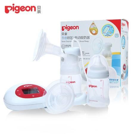 贝亲新睿双效电动吸奶器 孕产妇自动按摩挤奶器 吸乳器QA32